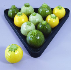 Squash (Summer) 'Cue Ball' Pool Ball Zucchini