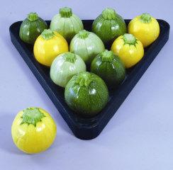 Squash (Summer) 'Cue Ball' Pool Ball Zucchini